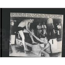 1948 Press Photo Keith Carter of Akron Swimmer Ohio - RSC52335