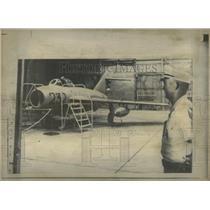 1969 Press Photo A Soviet-Built MIG 17 Flown From Cuba - RRW56925
