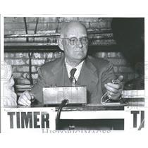 1956 Press Photo William Batchelor Rapley Clock Watcher