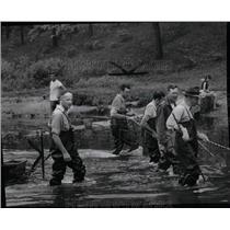1954 Press Photo Michigan Conservation Electric Shock - RRW00351