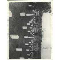 1935 Press Photo Arlington Cemetery Virginia Marble - RRX93373