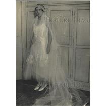 1929 Press Photo Miss Ruth Newton Vaughn Pierce wedding - RRX87451