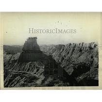 1930 Press Photo Badlands of Montana - RRX63131