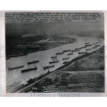 1965 Press Photo Mississippi River New Orleans strike - RRX21249