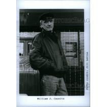 1991 Press Photo William Caunitz Retired Police Author - RRX47087