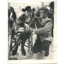 1963 Press Photo Shaune Hardy England Boy Spence Morris Dicks Jockey Radio