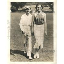 1935 Press Photo Mr. and Mrs. Harry Roy, Princess Pearl, daughter of Sir Charles