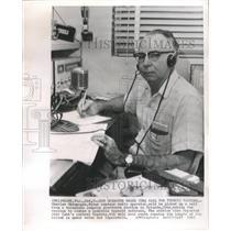 1963 Press Photo Charles Champagne Radio Operator Miami - RRW51737