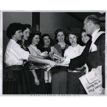1960 Press Photo Detroit Old Newsboys Ray Kay