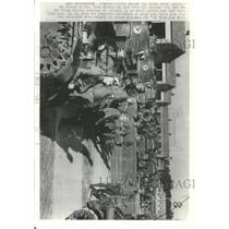 1936 Press Photo Dan Broke Fort Knox Cavalrymen Battle - RRX95323