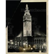 1929 Press Photo San Francisco Ferry Building Mounument - RRX73977
