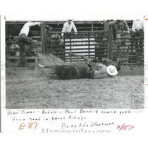 1984 Press Photo Rodeo Cowboys Assn Hernando Country