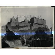 1930 Press Photo Historic Edinburgh Castle - RRX80729