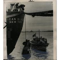 1961 Press Photo Stolen Car Auto Boston Harbor - RRX73895