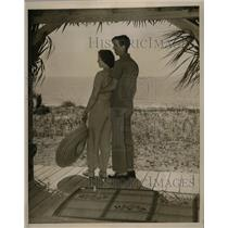 1940 Press Photo Thomas Phelps Honeymoon Isle Florida - RRX73257