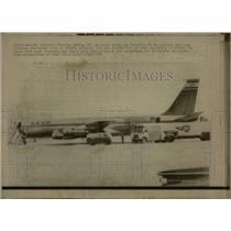 1968 Press Photo Jetliner Athens Airport Israel El Al - RRW04611