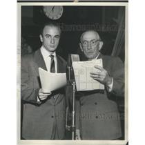 1952 Press Photo John Stephenson Will Wright CBS Radio It's Always Sunday