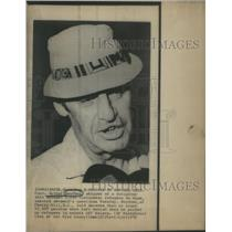 1975 Press Photo Capt. Arthur Boucher American Vietnamese Refugees Ship