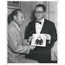 1955 Press Photo Billy Reay Bill Veneman  - RSH25735