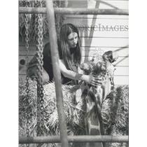1977 Press Photo Victor the flirting Giraffe dies at the Hartwell Zoological Par
