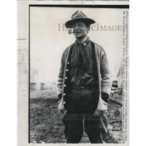 1916 Press Photo Captain Douglas MacArthur Smoking Corn-Cob Pipe - XXB07053