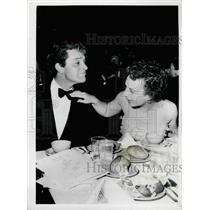 Press Photo Mrs. Burton Adjusts Her Husband's Tie - KSB22123