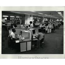 1980 Press Photo TWA Communications Complex Interior - RRW91343
