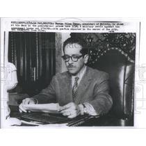 1960 Press Photo Herman Siles Zuazo/President Bolivia/Military Revolt