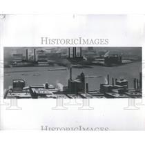 1928 Press Photo:Sidney George Pertz oil Keeffe river Newyork spare river