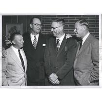 1954 Press Photo Charley Dressen Del Webb Jack Graham Babe Herman Modesto Reds