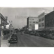 1946 Press Photo Clearwater's main street