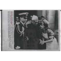 1965 Press Photo India's President Sarvepalli Radhakrishnan and his nurse