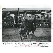 1979 Press Photo Bob Barthle of Dade City competes in the Calf roping