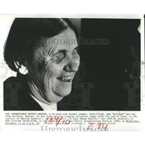 "1980 Press Photo A Lady Named Baybie on ""Non Fiction Television"""