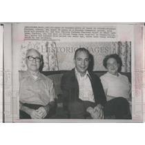 1971 Press Photo War Prisoner Richard Fecteau Mr. Mrs. Phillip Fecteau