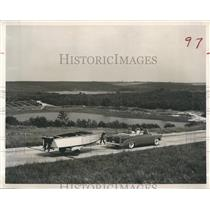 1963 Press Photo Ocoee Florida Lake and Hill Scenery