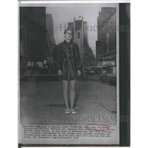 1970 Press Photo Libby Childress National Spelling Bee Champion Times Square