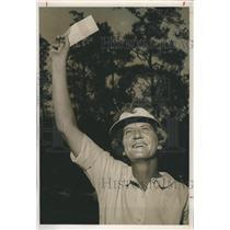 1964 Press Photo Mary Lena Faulk captures St. Petersburg Women's Open