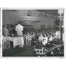 "1958 Press Photo Radio program ""Breakfast Club"""