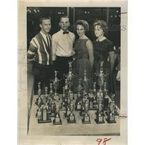 1962 Press Photo Bill Vanderpoel, Donald Potts, Susan Smith, Pam Wheelwright
