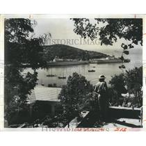 1971 Press Photo Charlotte Amalie on the U.S. Virgin Islands