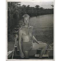 1950 Press Photo Boatman of Wakulla. - RSH85571