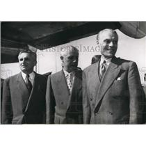 Press Photo Generals Pelissier, Salan, and Ely in Paris