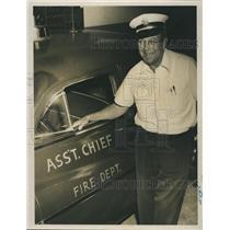 1954 Press Photo Fire Chief Malcomlm McPail.