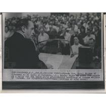 1968 Press Photo Gov. Orval Faubus at rally for George Wallace for President.