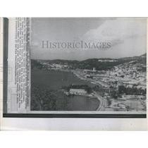 1970 Press Photo Hilltop View of Charlotte Amalie on St. Thomas Island Virgin
