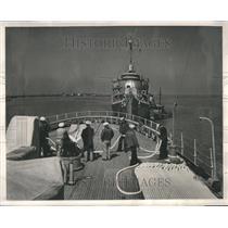 1949 Press Photo Chincoteague Orange Coast Guard TAMPA - RRR82531