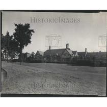 1930 Press Photo Grose Comite Country Club House Garden