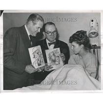 1949 Press Photo Allen Saunders Fay Addiss Lank Leonard