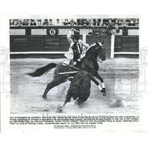 1980 Press Photo Jose Joao Zolo Bullfighting